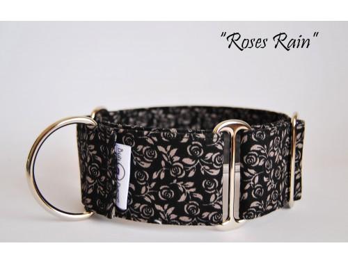 "Collar Mrtingale-Clic ""Roses rain"""