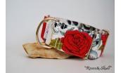 "Collar Martingale-clic ""Roses & Skull"""